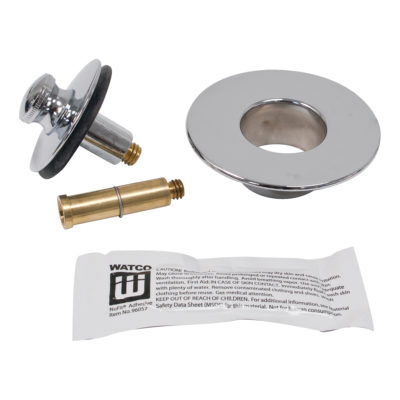 Nufit Push and Pull Bath Drain Kit - Chrome Plated