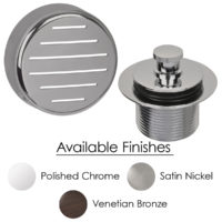 Push and Lift Two-Hole Bath Waste Finish Kit - Venetian Bronze