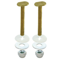 "1/4"" x 3-1/2"" Closet Bolt Set - Solid Brass Bolts - Pair"