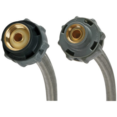 12 in. Fluidmaster Braided Faucet Connector - 3/8 in. Comp x 1/2 in. FIP