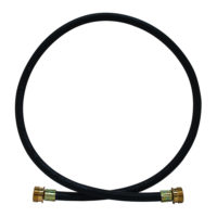 "3/4"" MHT 3' Rubber Washing Machine Extension Hose"