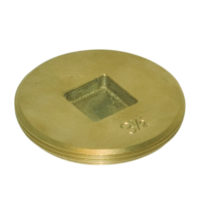 "4"" Brass Clean-Out Plug - Countersunk Head"