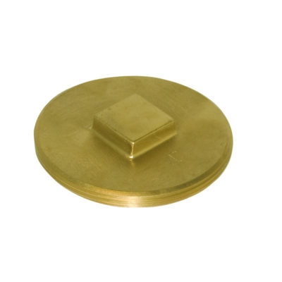 "4"" Brass Clean-Out Plug - Raised Head"