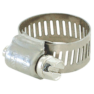 "#4 - 7/32"" to 5/8"" Hose Clamp - Stainless Steel Band and Screw"