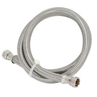 48 in. Eastman Braided Faucet Connector - 3/8 in. Comp x 3/8 in. Comp