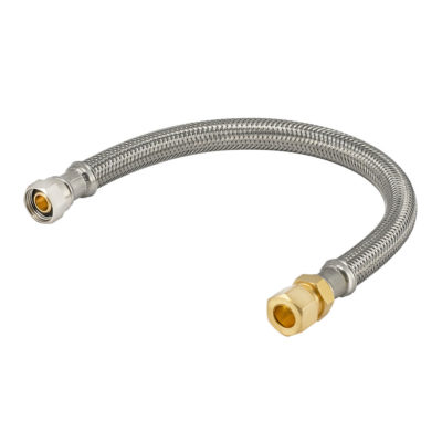20 in. Eastman Braided Faucet Connector - 3/8 in. Comp x 3/8 in. OD Male Comp