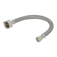 12 in. Eastman Braided Toilet Connector - 3/8 in. Flare x 7/8 in. BC