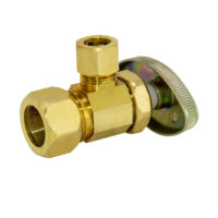 Eastman Angle Stop Valve 5/8 in. OD Comp x 3/8 in. OD Comp - Rough Brass