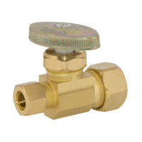 Eastman Straight Stop Valve 5/8 in. Comp x 3/8 in. Comp - Brass