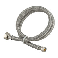 48 in. Eastman Braided Faucet Connector - 3/8 in. Comp x 1/2 in. FIP
