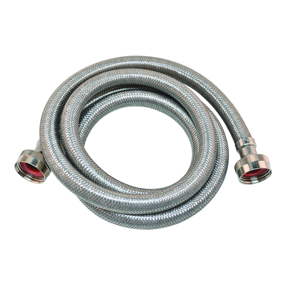 "3/4"" Braided Stainless Steel Washing Machine Connector - 10'"