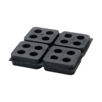 "2"" x 2"" Easy-Cut Rubber Mounting Pad"