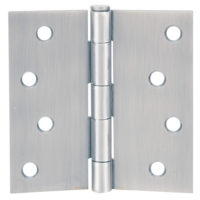 Door Hinge with Screw - Satin Nickel - 3-1/2""