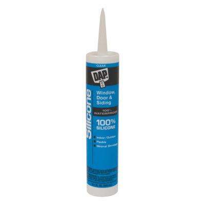 All-Purpose 100% Silicone Sealant - Clear - 10 oz.