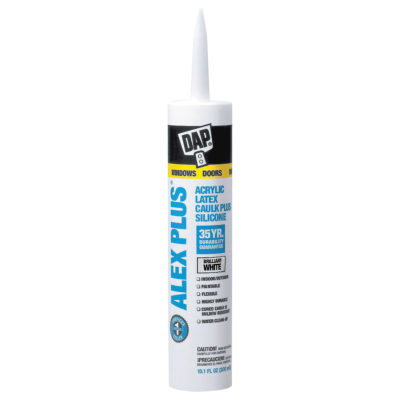 DAP Alex Plus Acrylic Latex Caulk Plus Silicone - White 10 oz.