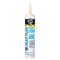 DAP Alex Plus Acrylic Latex Caulk Plus Silicone - Almond 10 oz.