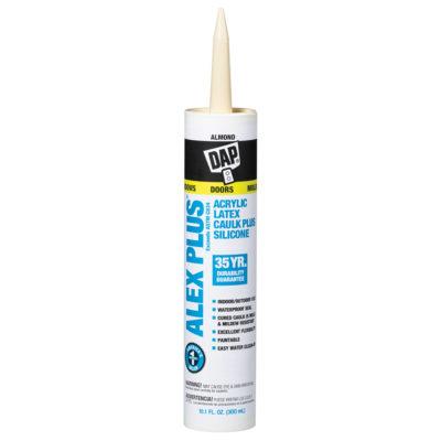 DAP Alex Plus Acrylic Latex Caulk Plus Silicone - Almond 10 oz.