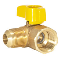 "5/8"" Flare x 3/4"" FIP  Gas Angle Ball Valve"