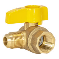 "1/2"" Flare x 1/2"" FIP Gas Angle Ball Valve"