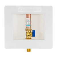 "1/2"" Sweat Icemaker Outlet Box with Hammer Arrester"