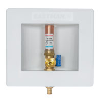 "1/2"" PEX Crimp Icemaker Outlet Box with Hammer Arrester"