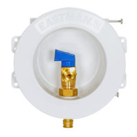 "1/2"" PEX Expansion Round Mini Icemaker Outlet Box"