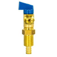 Eastman Ice Maker Outlet Box Ball Valve - 1/2 in. Crimp PEX x 1/4 in. Comp