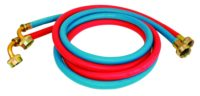 """3/4"""" FHT 5' Washing Machine Hose with 90° Elbow - 1 Pair"""