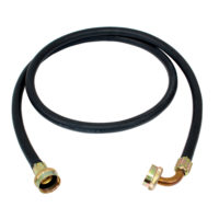 """3/4"""" FHT 6' Rubber Washing Machine Fill Hose with 90° Hose"""