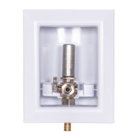 Sioux Chief Icemaker Outlet Box with Hammer Arrestor - 1/2 in. Crimp PEX
