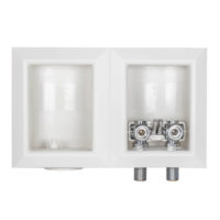 "1/2"" Female Sweat Dual Outlet Washing Machine Outlet Box"