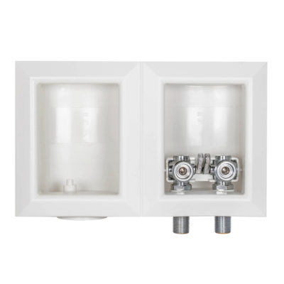 """1/2"""" Female Sweat Dual Outlet Washing Machine Outlet Box"""