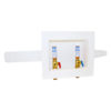 Center Drain Washing Machine Outlet Box with Hammer Arresters