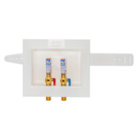Dual Drain Washing Machine Outlet Box with Hammer Arresters