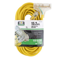 50 ft. EZ-FLO Triple-Outlet Extension Cord with Indicator Light