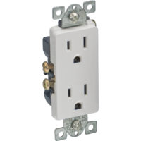 DECO Duplex Receptacle  - White