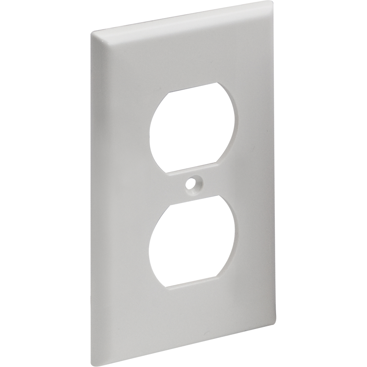 Single Gang Duplex Receptacle Wall Plate - Standard   Contractor Access