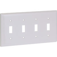 Four Gang Wall Switch Wall Plate - Standard
