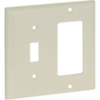 Combination DECO and Switch Wall Plate - Standard