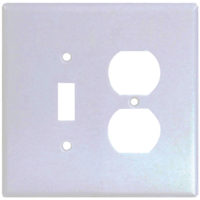 Combination Switch And Duplex Wall Plate - Jumbo (Box of 10)