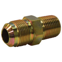 "5/8"" OD Flare x 1/2"" MIP Adaptor Gas Fitting (Tapped 3/8"" FIP)"