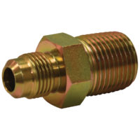 "3/8"" OD Flare x 3/8"" MIP Adaptor Gas Fitting (Tapped 1/8"" FIP)"