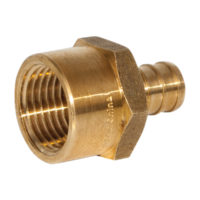 "3/4"" x 1"" PEX Female Adapter - Brass"
