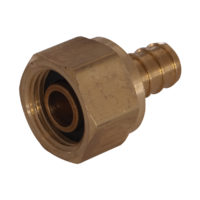 "1/2"" PEX x Female Swivel Adapter - Brass Nut"