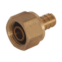 "3/4"" PEX x Female Swivel Adapter - Brass Nut"
