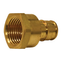 "3/4"" Expansion Adapter - Brass (PEX x FIP)"