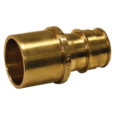 "1/2"" x  3/4 Expansion PEX Female Sweat Adapter - Brass (PEX x Female Sweat)"