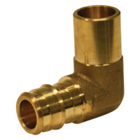 "3/4"" PEX Male Elbow - Brass (PEX x Male Sweat)"