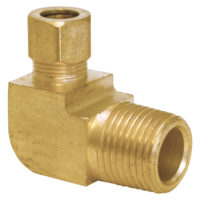 "1/2"" OD Tube x 3/8"" MIP Compression x Male Reducing Elbow (69C)"