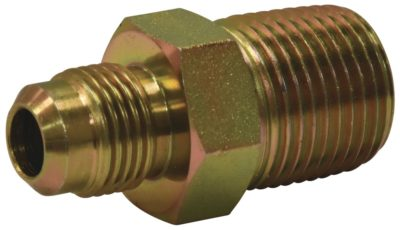 """1"""" OD Flare x 3/4"""" MIP Adaptor Gas Fitting (Tapped 1/2"""" FIP)"""